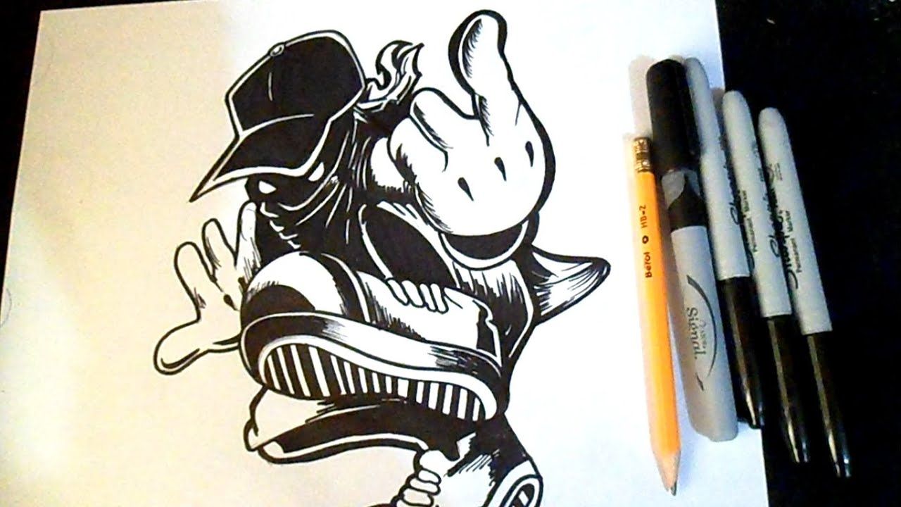 Comment dessiner un personnage avec un chapeau graffiti youtube - Comment dessiner un zombie ...