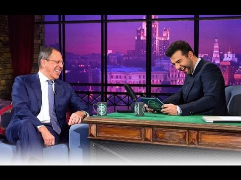 Вечерний Ургант -  Сергей Лавров/Sergey Lavrov, MozART Group. 59 выпуск, 24.10.2012