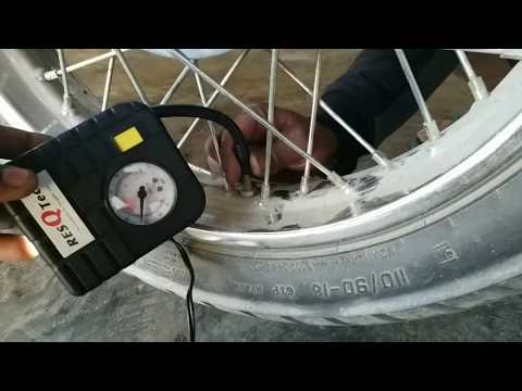 Air pump for two wheeler