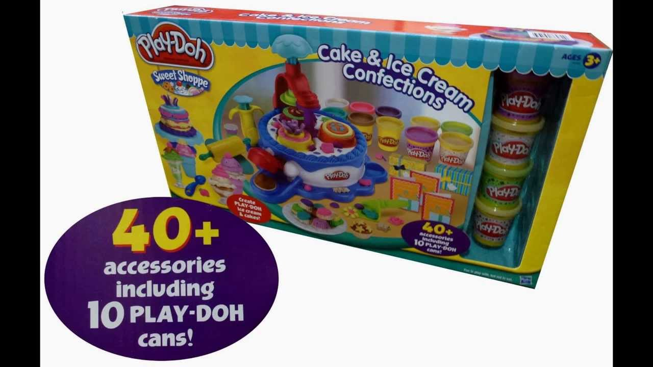 Cake Ice Cream Play Doh : Play-Doh Sweet Shoppe Cake & Ice Cream Confections 40 ...