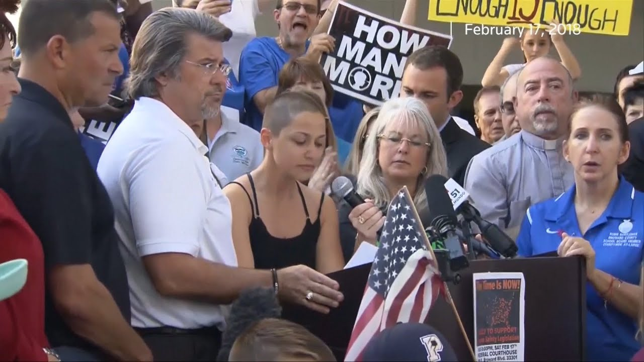"""The adults have let us down"": Florida students demand stricter gun laws"