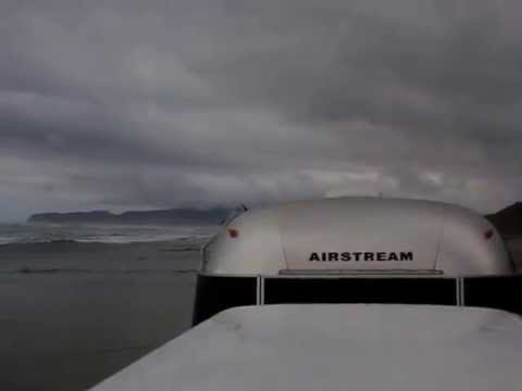 My Airstream Safari Travel Trailer on the Beach [ Do Not Attempt ]