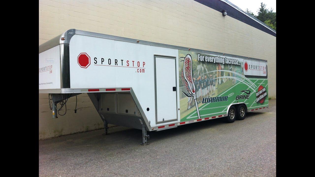 great used 36 foot long aluminum vending trailer for sale   custom