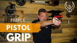 Proper Pistol Grip - Navy SEAL Teaches How to Grip a Pistol