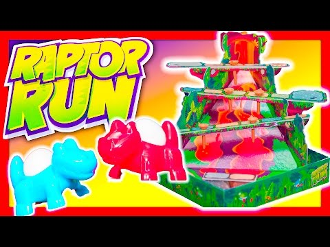 RAPTOR RUN Game Assistant Plays Raptor Run Family Game with Blaze TheEngineeringFamily Funny Kids To