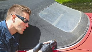 "How to Clean Convertible Top & Restore ""Yellow"" Window"