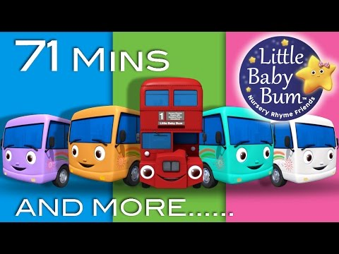 Ten Little Buses | Plus Lots More Nursery Rhymes | From LittleBabyBum!