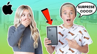 Surprising Crush With A NEW iPhone 11 **EMOTIONAL** ❤️📱 | Gavin Magnus ft. Coco Quinn