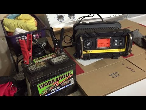Stanley BC15BS battery charger unboxing and review.