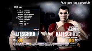 Fight Night Champion - Heavyweight Overall Ratings, Skills, Personal Info and Athleticism HD