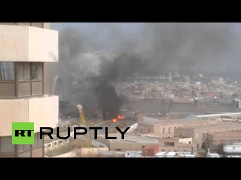 RAW ISIS suicide attack aftermath at luxury Tripoli hotel