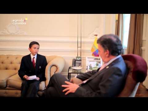 Niño entrevista al Presidente Juan Manuel Santos - 29 de septiembre de 2014