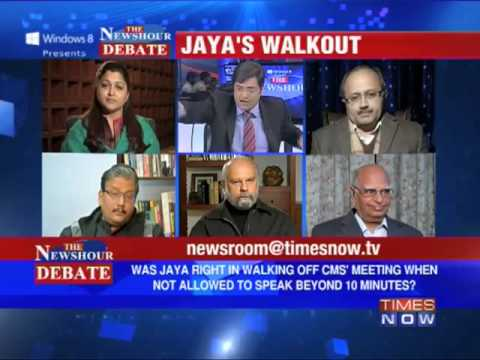 The Newshour Debate: J Jayalalithaa walks out of NDC meet (Part 2 of 2)