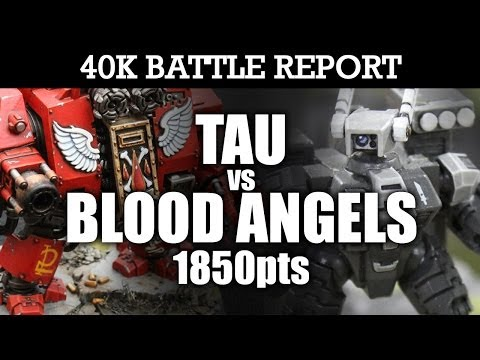 Tau vs Blood Angels Warhammer 40K Battle Report REVENGE OF THE FALLEN! 6th Ed 1850pts | HD Video