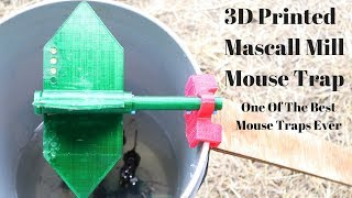 3D Printed Mascall Mill Mouse Trap In Action (9 Mice) . One Of The Best I have Ever Tested