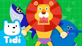 Lion in Underwear ♪   Animal Songs   Sing Along with Tidi Songs for Children★Tidi Kids
