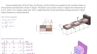 Lec24, Combined loading Part2, How to deal with various forces acting in different directions