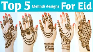 Easy Stylish Mehndi design for eid - beautiful simple Mehndi design back hand - Mehandi ka design