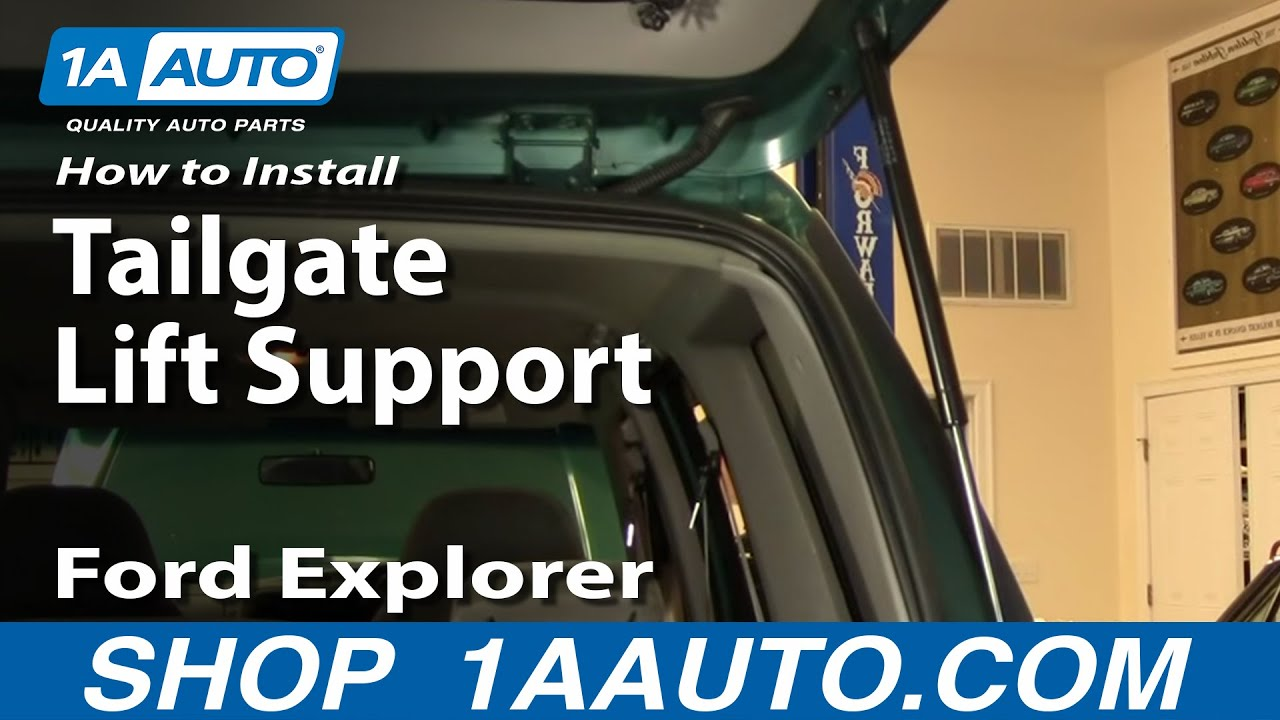 How To Install Replace Tailgate Strut Support Ford