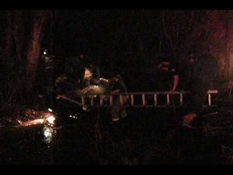 RESCUES ON CAMERA, OVERTURNED CAR IN WATER, GARY INDIANA
