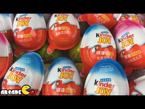 80 Surprise Eggs Kinder Surprise Hello Kitty Disney Princess Cars - Surprise Eggs 2015 Collection video