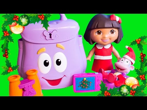 Play Doh Dora The Explorer Backpack Dora & Boots Christmas Season Dora La Exploradora Mochila Botas