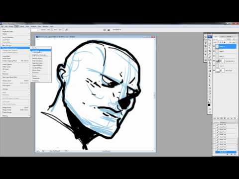 DC Comics Guide to Digitally Drawing from Photoshop. to Manga Studio - Scribbles with Jonathan