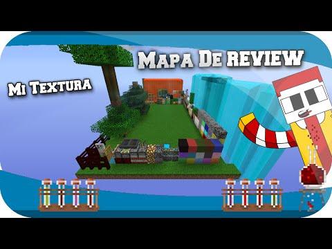 Minecraft   Mapa Para Review De Textura + Mi Textura Payaso