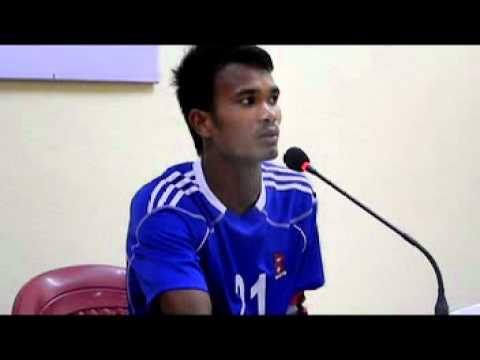 Nepal U-22 Vs Jordan U-22 Skipper Bharat Khawas In post match conference By: GoalNepal.com