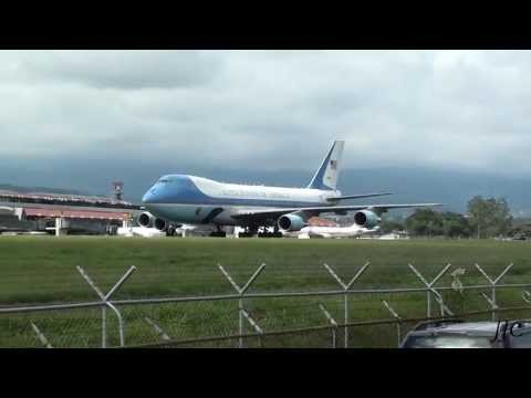 Air Force One Barack Obama | SJO MROC Costa Rica - HD