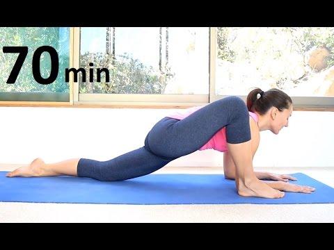 Медленная тягучая йога 70 минут все уровни | chilelavida йога с Леной