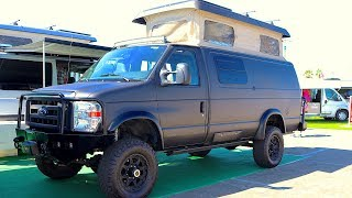 $160K 4x4 Off Road Camper Van   Sportsmobile Ford Classic