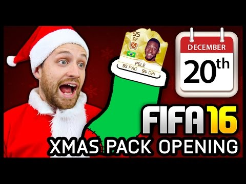 XMAS ADVENT CALENDAR PACK OPENING #20 - FIFA 16 ULTIMATE TEAM