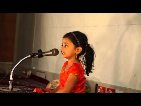Giriraja Suta Tanaya By 4yr Old Sahana video