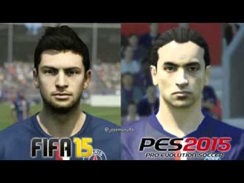 FIFA 15 vs PES 2015 PSG Face Comparison