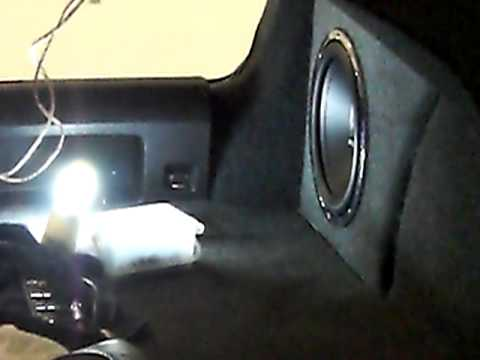 Hifonics HFi12D4 single subwoofer in 2009 VW Jetta