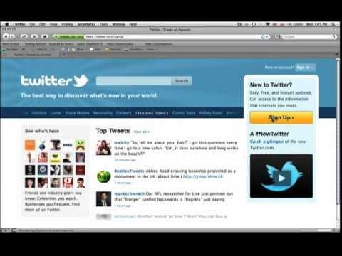 Understanding Twitter part 1 - How To Setup A Twitter Accoun...