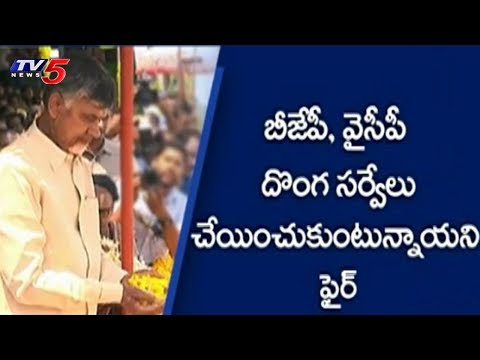 AP CM Chandrababu Naidu Fires On Centre | Srikakulam District Tour | TV5 News