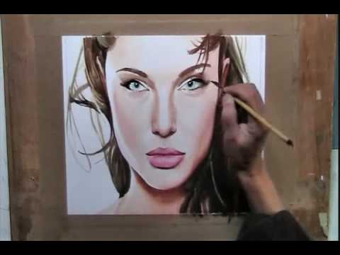 Angelina Jolie Watercolor Portrait