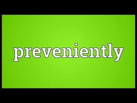 Header of preveniently