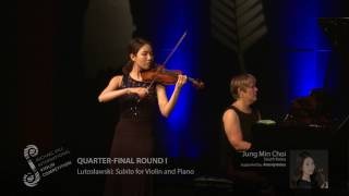 2017 Round #1 Competitor #2 J M Choi | Lutosławski: Subito for Violin and Piano