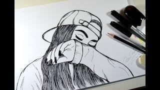 Como desenhar GAROTA TUMBLR - How to draw GIRL TUMBLR