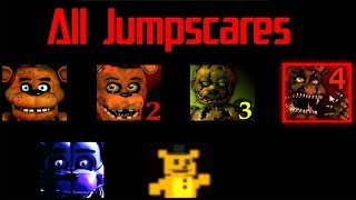 All jumpscares in HD FNaF 1-6