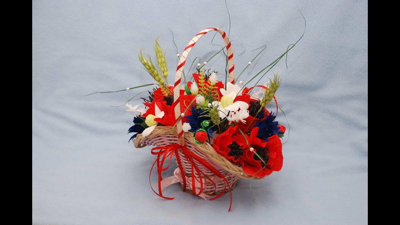 Букеты из цветов и современные подарки своими руками