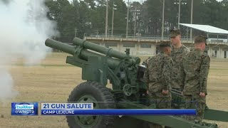 Camp Lejeune holds 21-gun salute on President's Day