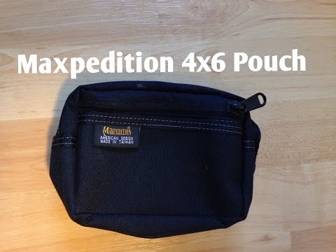 Maxpedition 4x6 Pouch Review