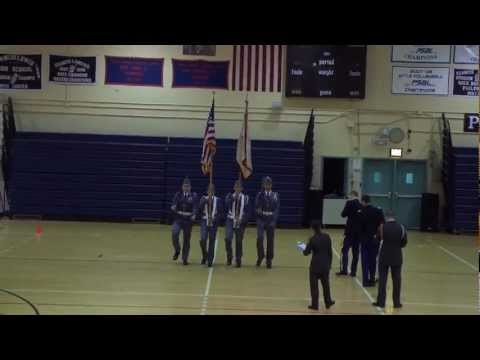 Carson Long Military Academy New York Drill Meet 2012-03-10 Color guard.MTS