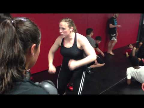 UFC Sarah Kaufman teaches MMA technique Ground and Pound Image 1