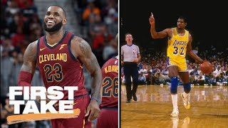 LeBron James or Magic Johnson: First Take debates which PG they'd rather have | First Take | ESPN