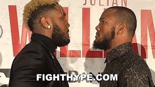 JARRETT HURD AND JULIAN WILLIAMS STARE EACH OTHER DOWN WITH BAD INTENTIONS AT FIRST FACE OFF